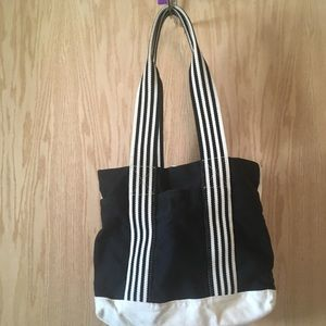 Handbags - Black and White Fabric Bag